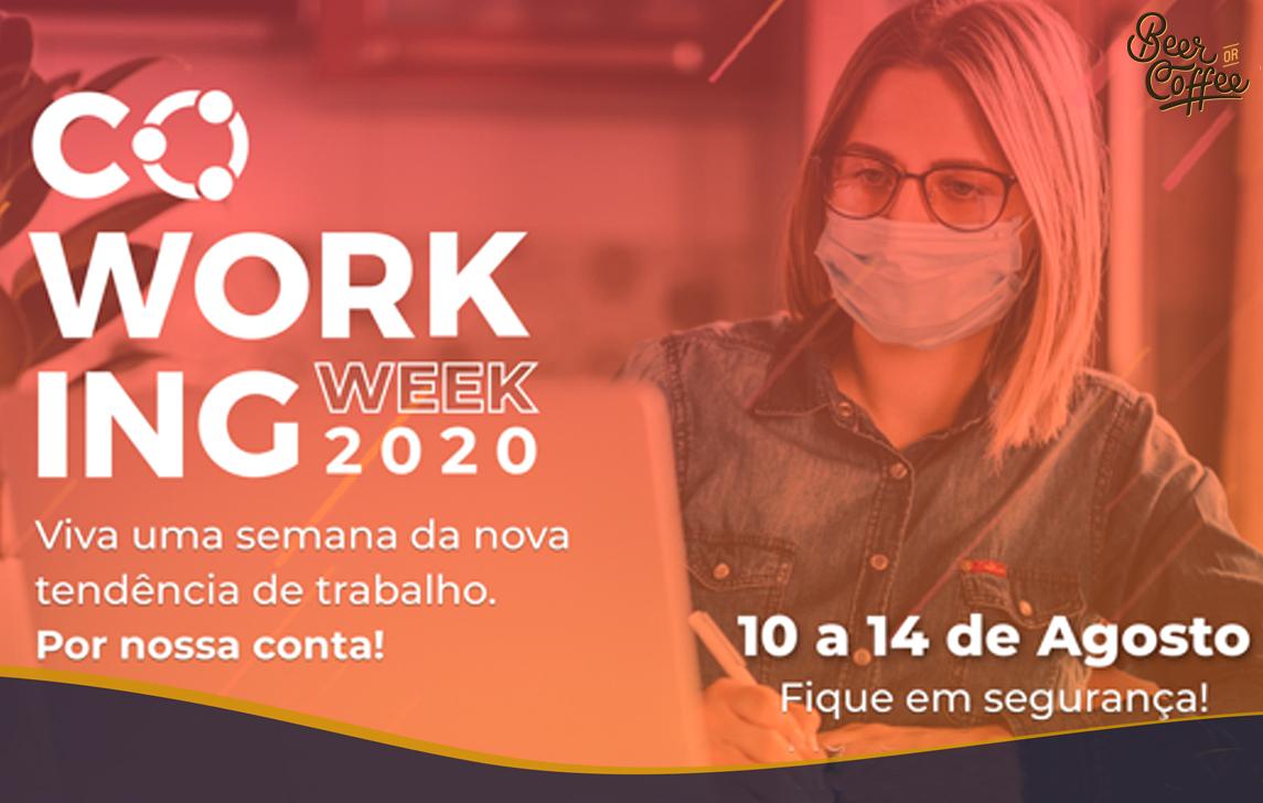 Coworking Week 2020: uma oportunidade para você experimentar trabalhar em um coworking de graça!